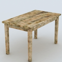 Free Old Table 3D Model