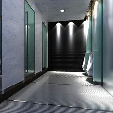 Public Toilet 001  3D Model