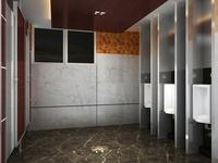 Public Toilet 010 3D Model