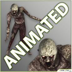 Male Zombie with 11 Animations 3D Model