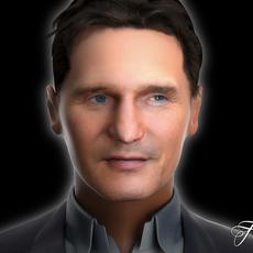 Liam Neeson 3D Model