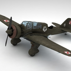 Pzl 23 Karas light bomber 3D Model