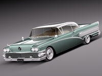 Buick Riviera Special Coupe 1958 3D Model
