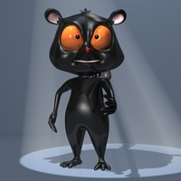 Black lemure Character 3D Model