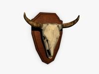 Buffalo skull trophy 3D Model