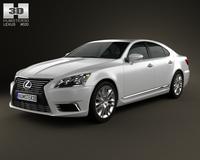 Lexus LS (XF40) 2012 3D Model