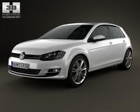 Volkswagen Golf Mk7 5-door 2013 3D Model