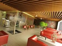 Lunchroom Restaurant Interior Scene 1 3D Model