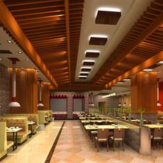 Restaurant 062 3D Model
