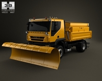 Iveco Trakker Snow Plow Truck 2-axis 2012 3D Model