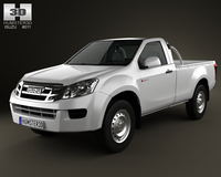 Isuzu D-Max Single Cab 2012 3D Model