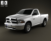 Dodge Ram 1500 Regular Cab SLT 6-foot 4-inch Box 2012 3D Model