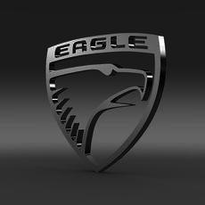 Eagle Logo   3D Model