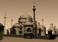Arab mosque scene 3D Model