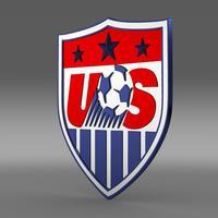 USA Soccer Logo 3D Model
