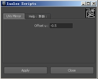 Mirror UVs UI for Maya 0.1.1 (maya script)
