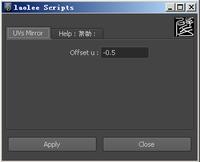Free Mirror UVs UI for Maya 0.1.1 (maya script)