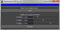 Free Randomize HSV for Maya 1.0.0 (maya script)