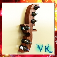 Wine Bottle Rack 1 3D Model