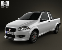Fiat Strada Crew Cab Sporting 2012 3D Model