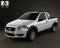 Fiat Strada Crew Cab Trekking 2012 3D Model