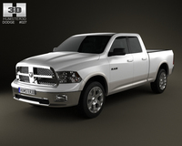 Dodge Ram 1500 Quad Cab Laramie 6-foot 4-inch Box 2012 3D Model