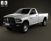 Dodge Ram 2500 Regular Cab ST 6-foot 4-inch Box 2012 3D Model