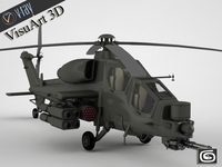 Helicopter A129 Mangusta  3D Model