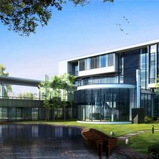 3d building 007 3D Model