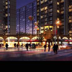 Modern Skyscraper Cityscape 213 3D Model