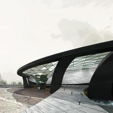 Waterfront Cityscape Buildings 221 3D Model