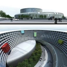 3d building 260 outdoor shopping mall 3D Model