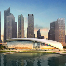 Waterfront Cityscape 341 3D Model
