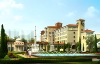 European Building Complex Scene 357 3D Model