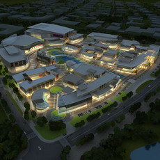 Aerial View Building Complex 364 3D Model