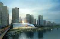 Waterfront Cityscape 378 3D Model
