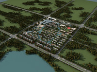 Aerial View Building Campus  401 3D Model