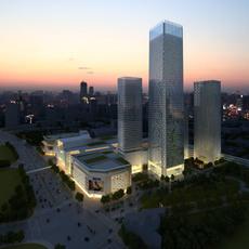 Night City Skyscraper Scene 416 3D Model