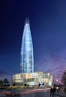 Night Skyscraper Tower Cityscape 433 3D Model