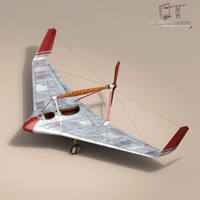 Rubber band airplane 3D Model
