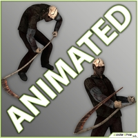 Animated Grim Reaper - 8 animated cycles 3D Model