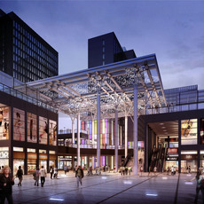 Shopping District Scene 462 3D Model