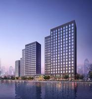 Waterfront City Skyline 463 3D Model