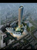 Futuristic Cityscape 464 3D Model