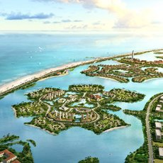 Residential Islands in Ocean 469 3D Model