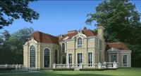 Luxury Mansion Scene 482 3D Model