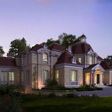 Luxury Mansion Scene 495 3D Model