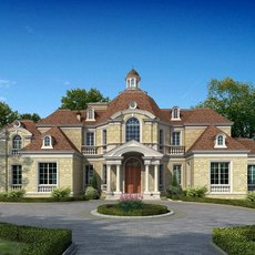 Luxury Mansion Scene 496 3D Model