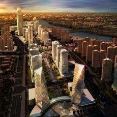 Downtown Cityscape 515 3D Model