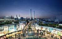Shopping District Cityscape 525 3D Model